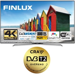 Finlux TV 43FUC8160 - HDR UHD T2 SAT HBBTV WIFI -