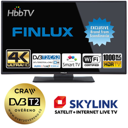 Finlux TV 49FUD7060 - UHD SAT/ T2 SMART WIFI SKYLINK LIVE-