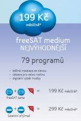 Karta freeSAT s balíčkem freeSAT plus HD