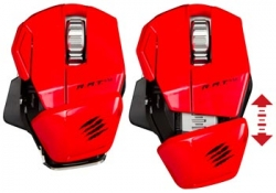 Myš Mad Catz R.A.T. M Wireless Mobile Gaming Mouse Red