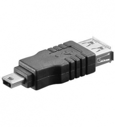 Redukce USB A female - USB B mini male