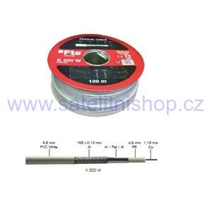 Koaxiální kabel FTE K 300 W Cu (75 ohm) - 100 m